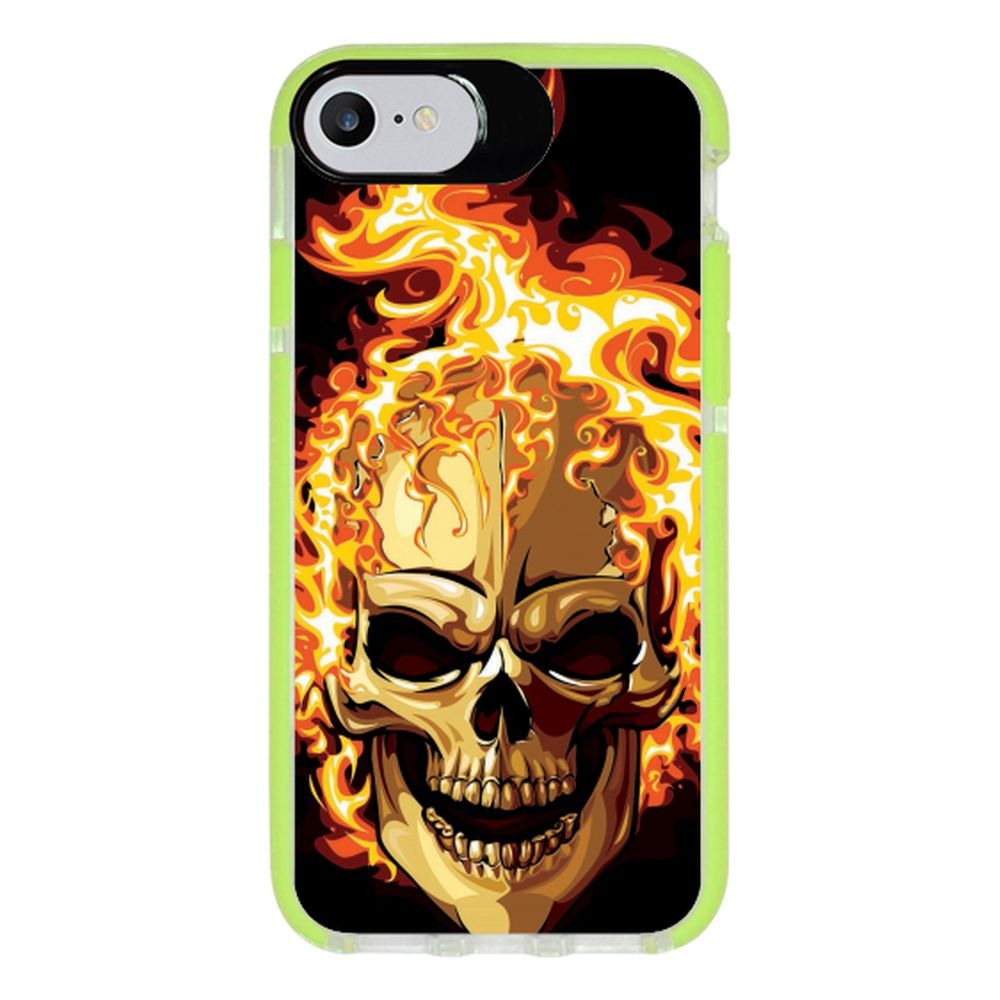 Capa Personalizada Intelimix Intelishock Verde Apple iPhone 7 - Caveira - CV18