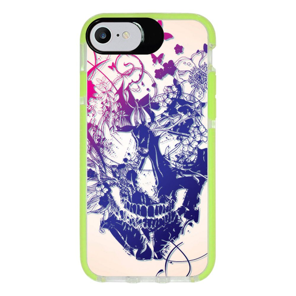 Capa Personalizada Intelimix Intelishock Verde Apple iPhone 7 - Caveira - CV31