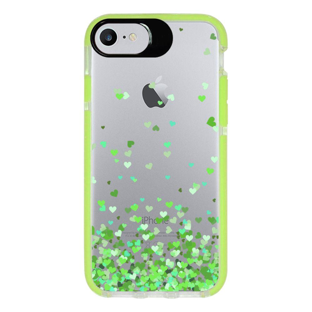 Capa Personalizada Intelimix Intelishock Verde Apple iPhone 7 - Corações - TP169