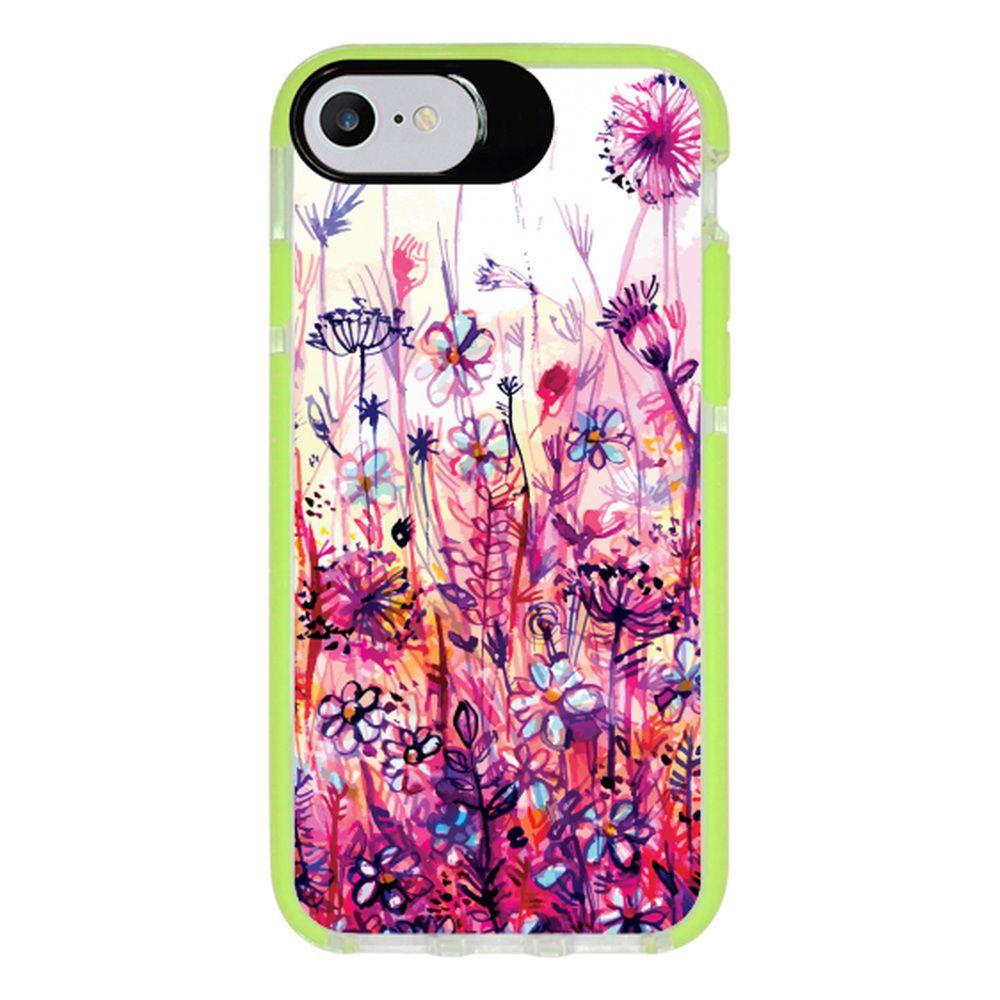 Capa Personalizada Intelimix Intelishock Verde Apple iPhone 7 - Florais - FL14