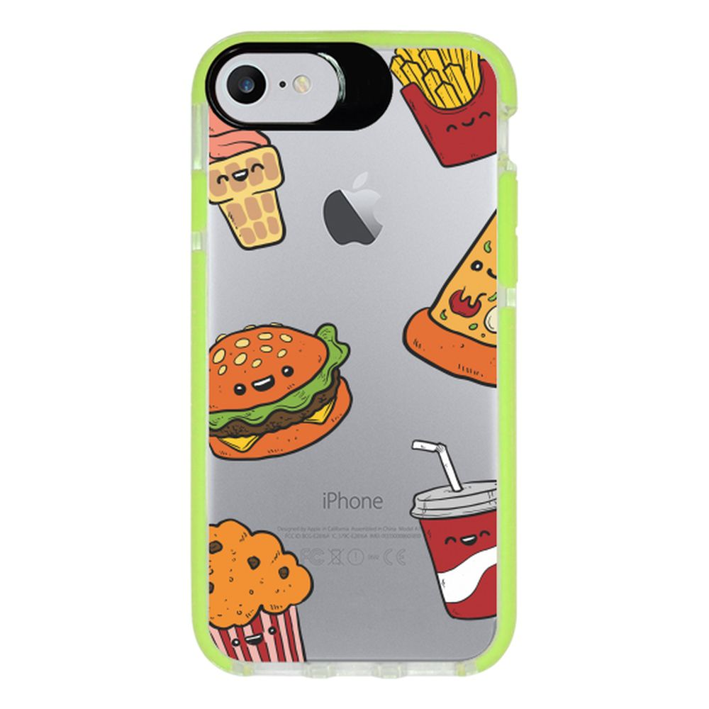 Capa Personalizada Intelimix Intelishock Verde Apple iPhone 7 - Food - TP106