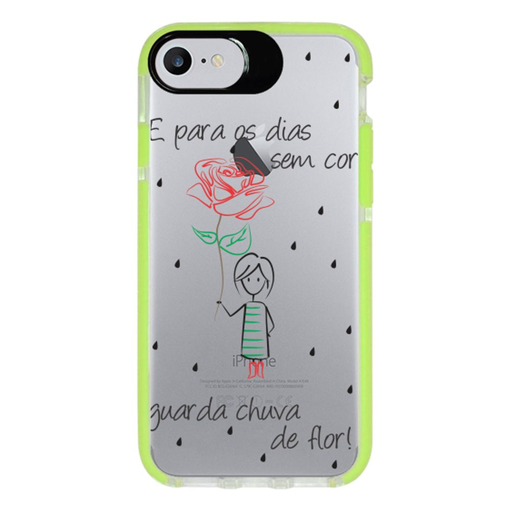 Capa Personalizada Intelimix Intelishock Verde Apple iPhone 7 - Frases - TP112