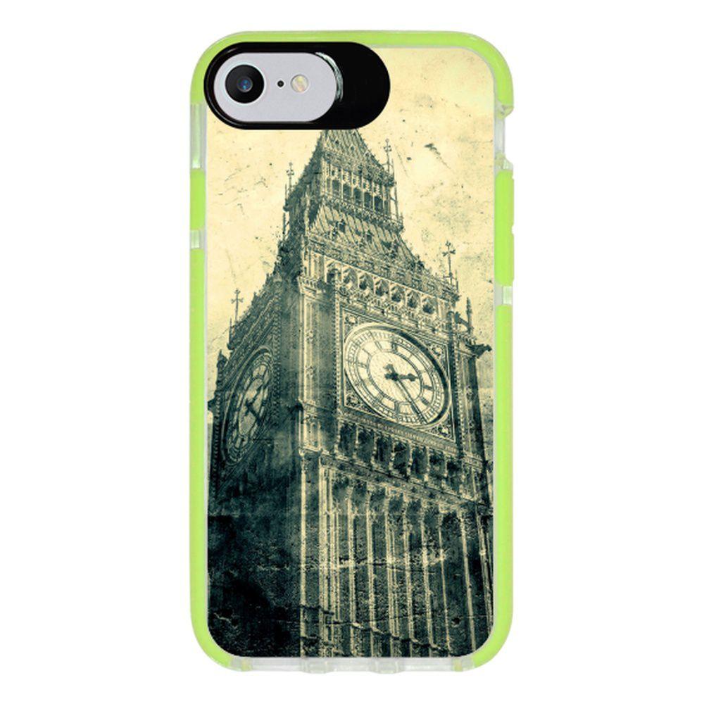 Capa Personalizada Intelimix Intelishock Verde Apple iPhone 7 - London - CD18