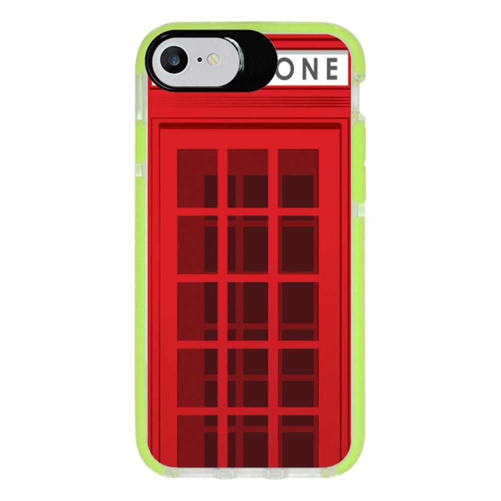 Capa Personalizada Intelimix Intelishock Verde Apple iPhone 7 - London - CD35