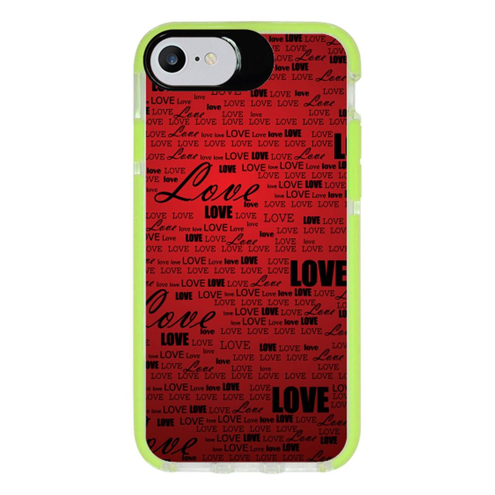 Capa Personalizada Intelimix Intelishock Verde Apple iPhone 7 - Love - LV06