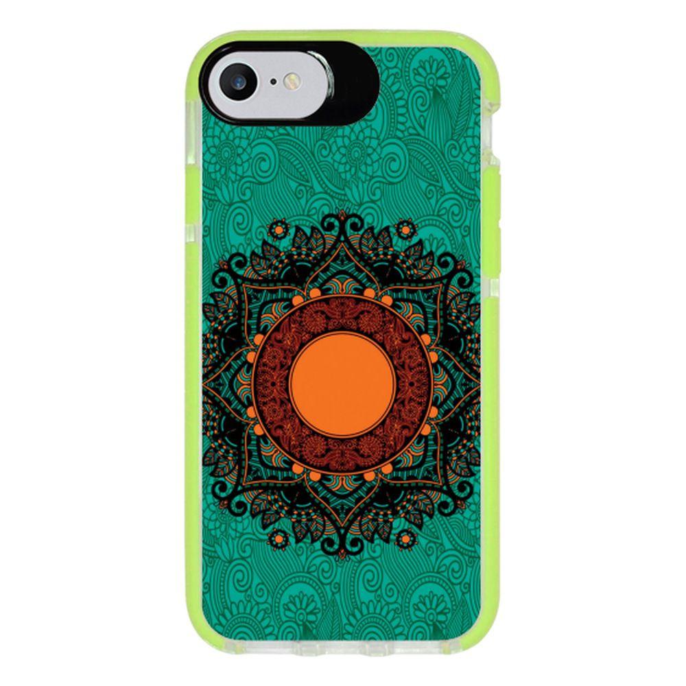 Capa Personalizada Intelimix Intelishock Verde Apple iPhone 7 - Mandala - AT24