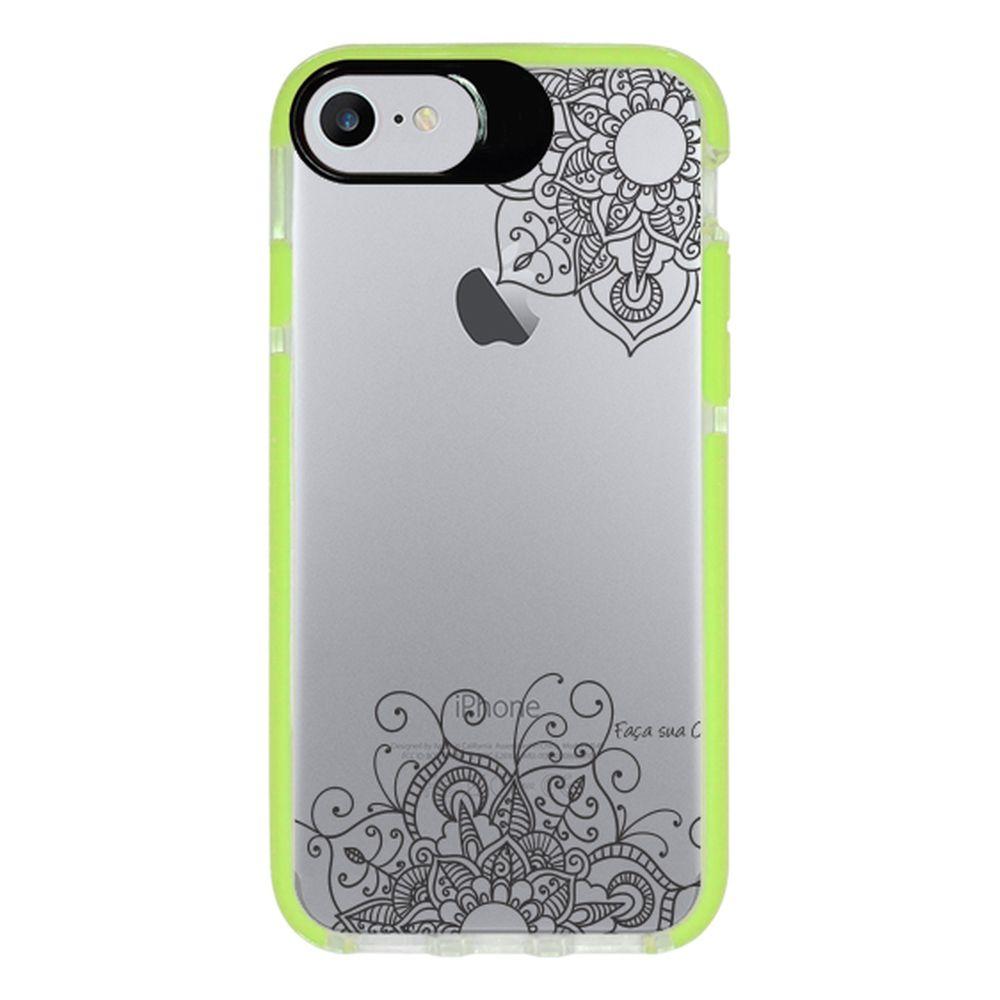 Capa Personalizada Intelimix Intelishock Verde Apple iPhone 7 - Mandala - TP255