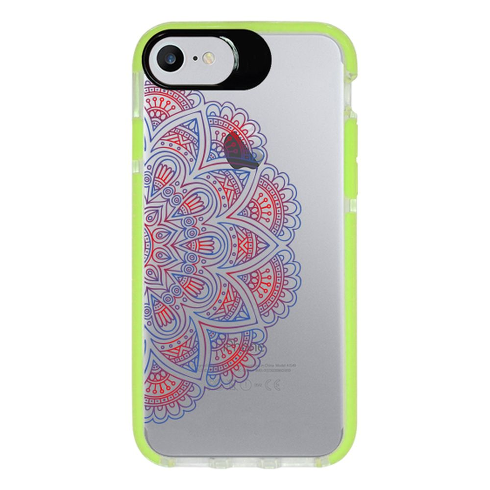 Capa Personalizada Intelimix Intelishock Verde Apple iPhone 7 - Mandala - TP31
