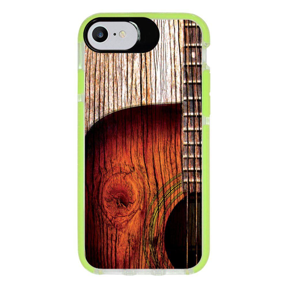 Capa Personalizada Intelimix Intelishock Verde Apple iPhone 7 - Música - MU07