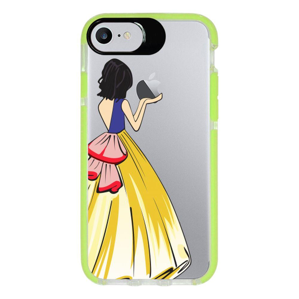 Capa Personalizada Intelimix Intelishock Verde Apple iPhone 7 - Princesa Branca de Neve - TP203