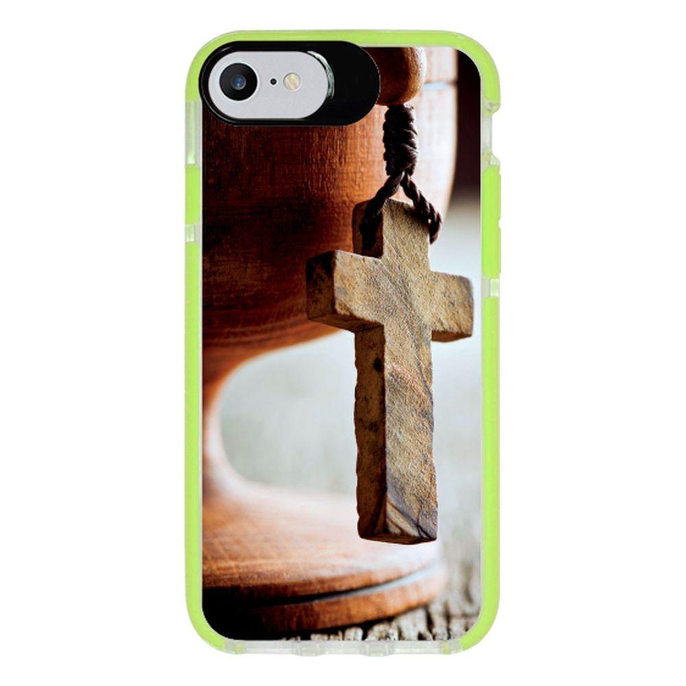Capa Personalizada Intelimix Intelishock Verde Apple iPhone 7 - Religião - RE03