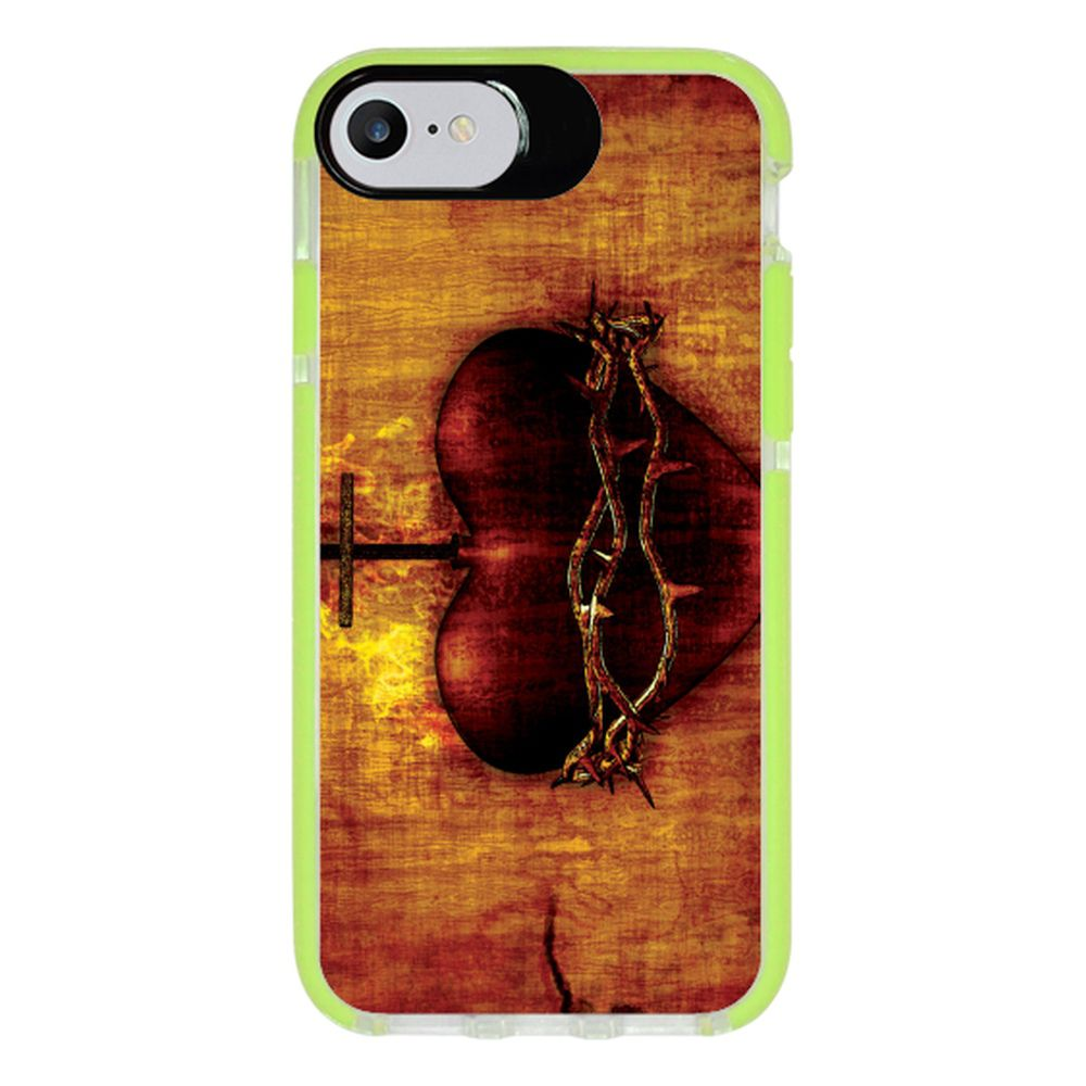Capa Personalizada Intelimix Intelishock Verde Apple iPhone 7 - Religião - RE08