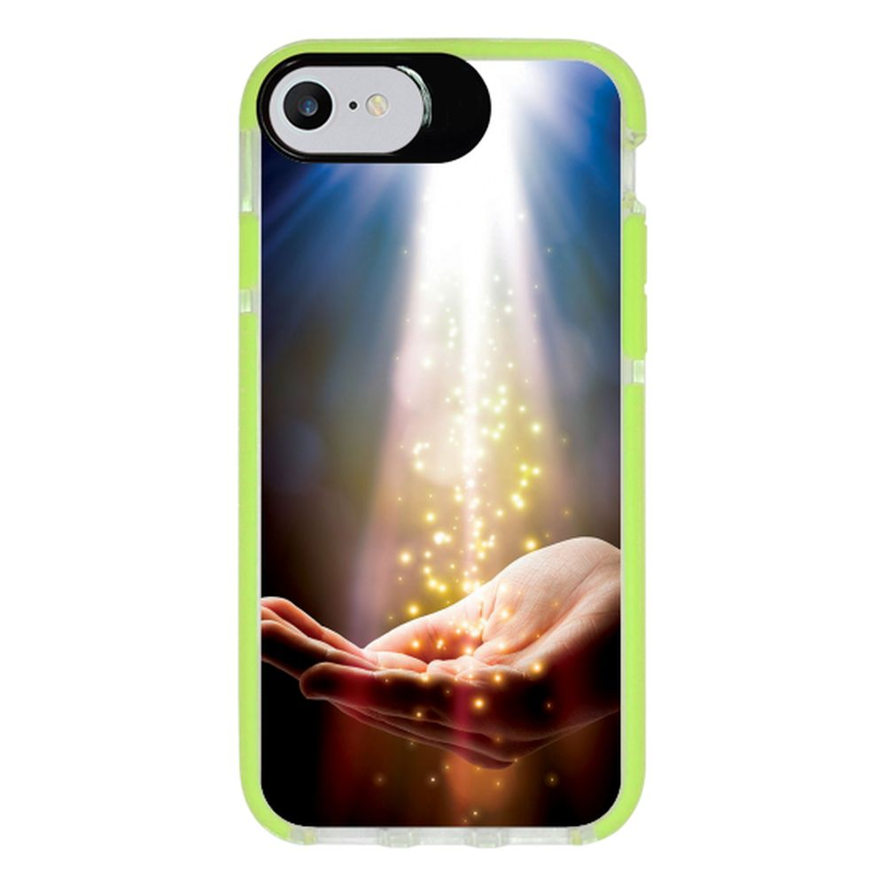Capa Personalizada Intelimix Intelishock Verde Apple iPhone 7 - Religião - RE09