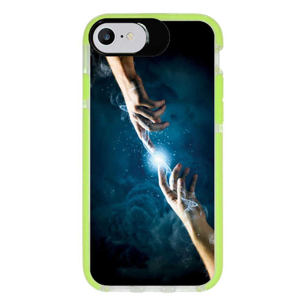 Capa Personalizada Intelimix Intelishock Verde Apple iPhone 7 - Religião - RE13