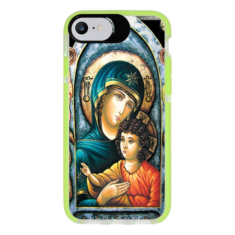 Capa Personalizada Intelimix Intelishock Verde Apple iPhone 7 - Religião - RE15