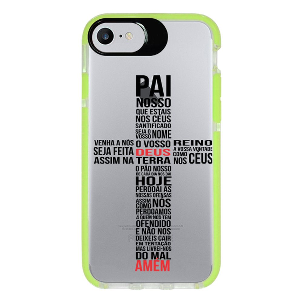 Capa Personalizada Intelimix Intelishock Verde Apple iPhone 7 - Religião - TP348
