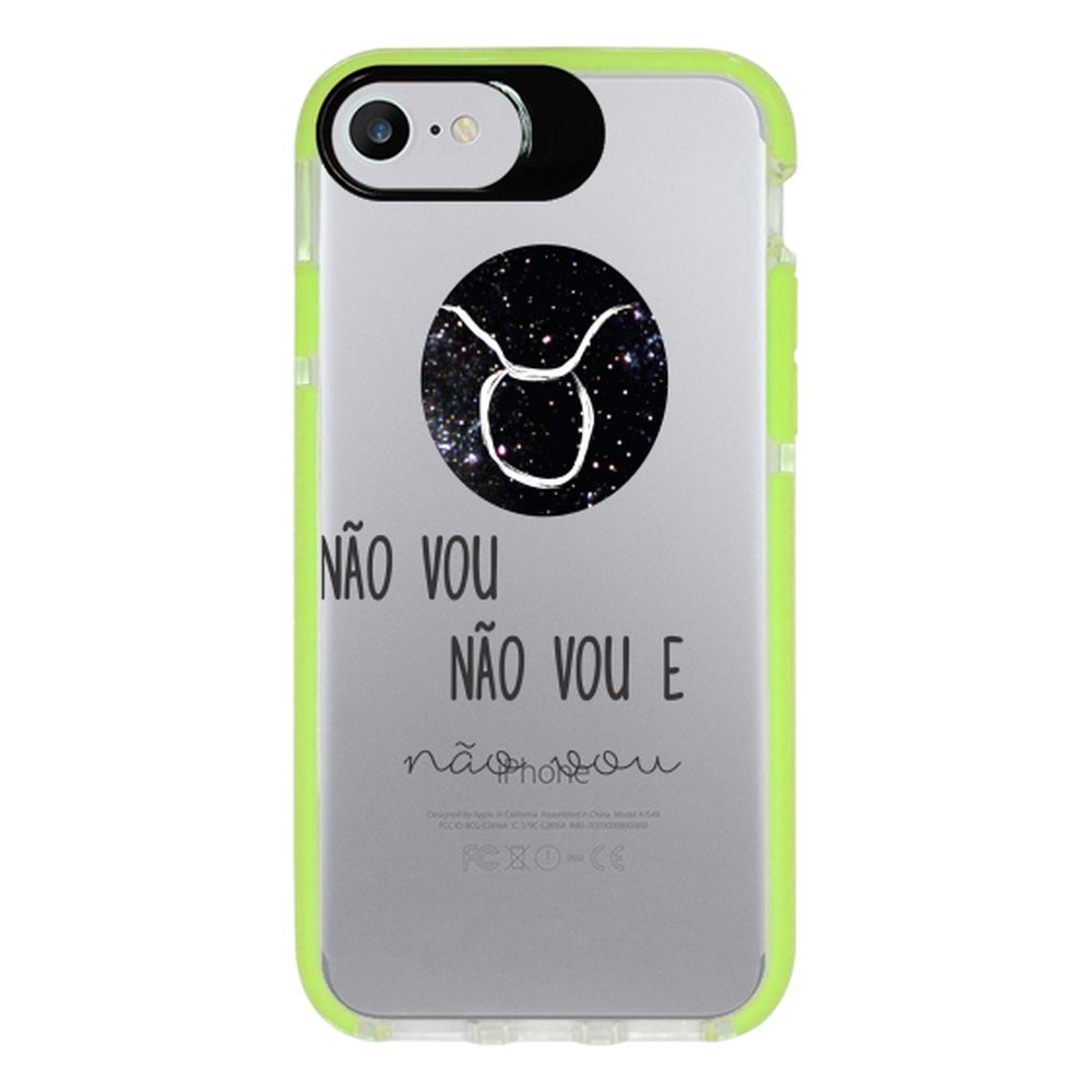 Capa Personalizada Intelimix Intelishock Verde Apple iPhone 7 - Signos - SN14