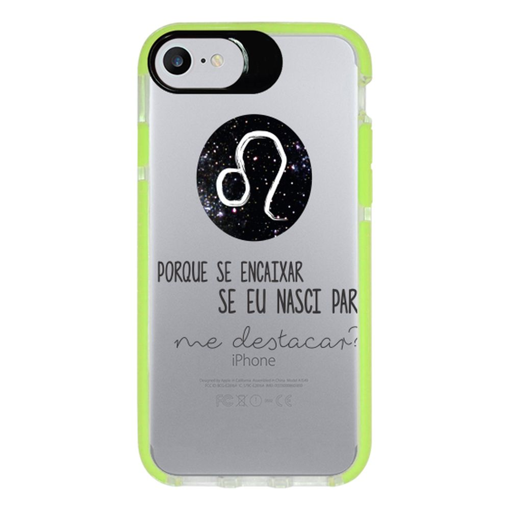 Capa Personalizada Intelimix Intelishock Verde Apple iPhone 7 - Signos - SN17