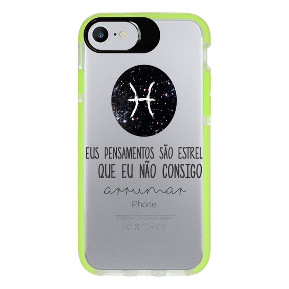 Capa Personalizada Intelimix Intelishock Verde Apple iPhone 7 - Signos - SN24