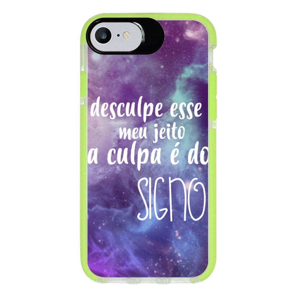 Capa Personalizada Intelimix Intelishock Verde Apple iPhone 7 - Signos - SN37
