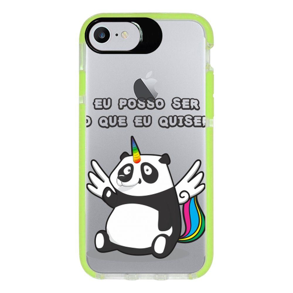 Capa Personalizada Intelimix Intelishock Verde Apple iPhone 7 - Unicórnio - TP185