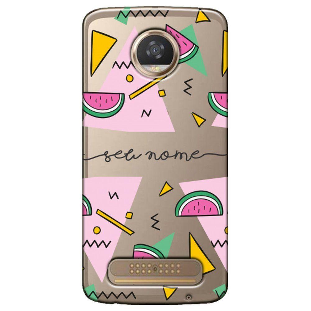 Capa Personalizada Moto Z2 Play Com Nome - NM13
