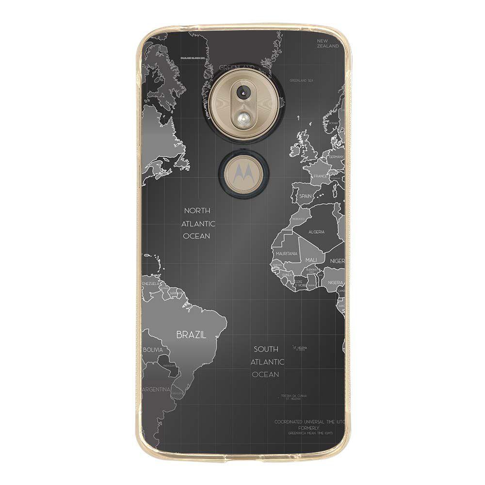 Capa Personalizada Motorola Moto G7 Play XT1952 Mapa Mundi - MC01