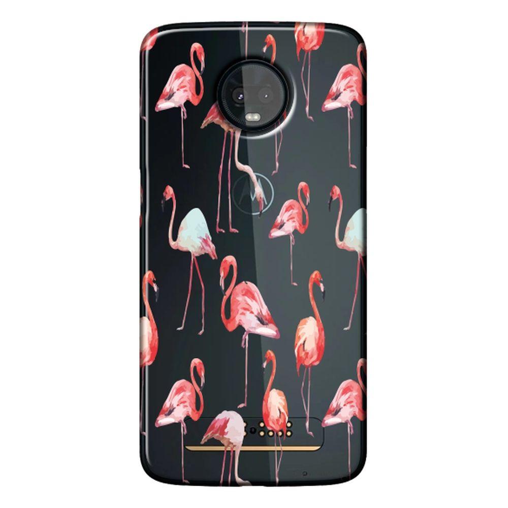 Capa Personalizada para Motorola Moto Z3 Play - Flamingos - TP315