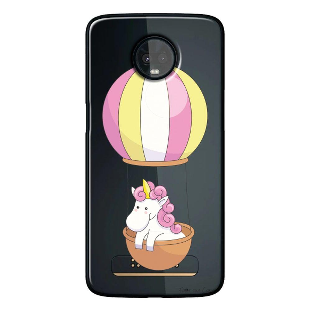 Capa Personalizada para Motorola Moto Z3 Play - Unicórnio no Balão - TP308