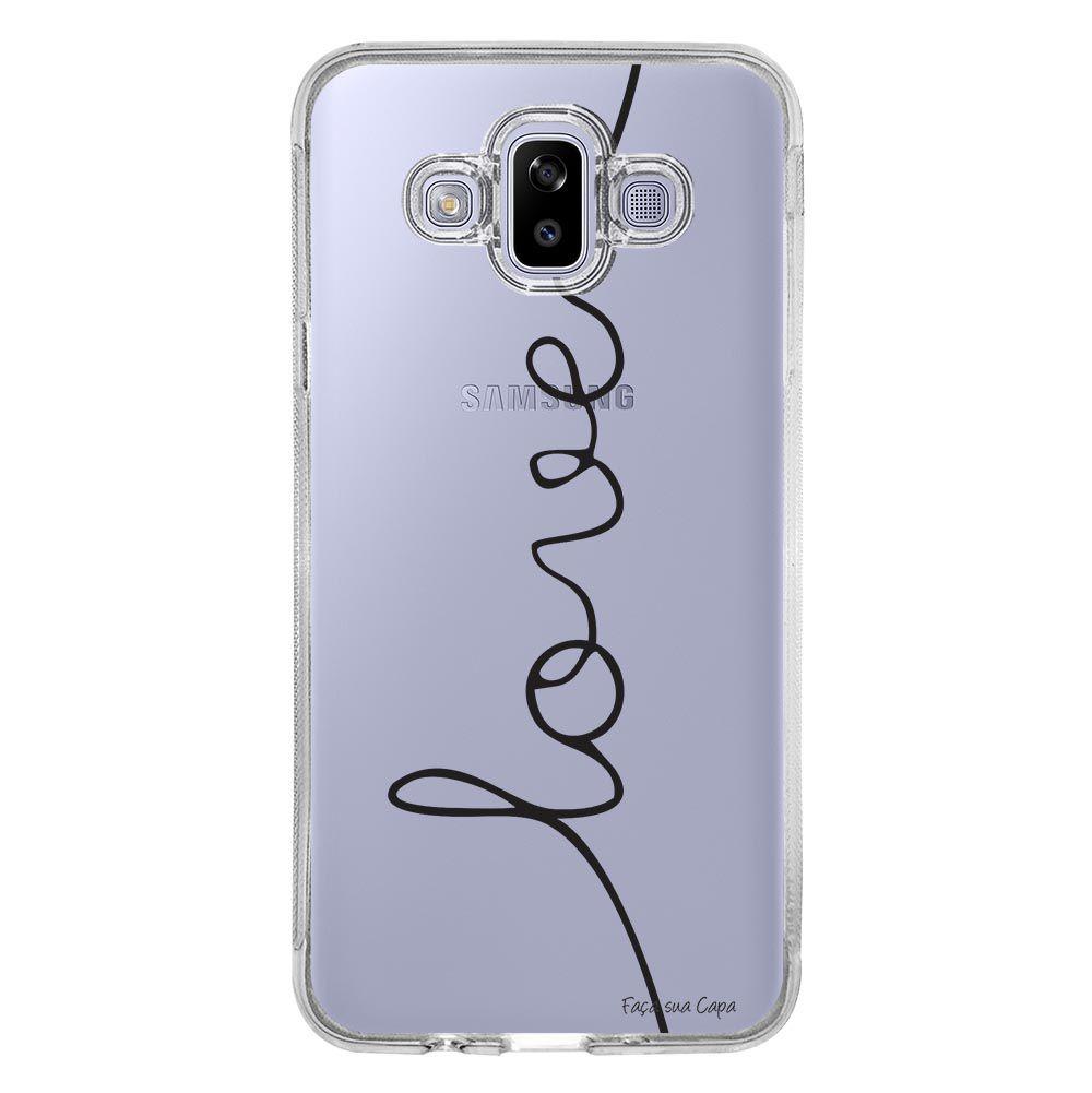 Capa Personalizada Samsung Galaxy J7 Duo Frases - TP150