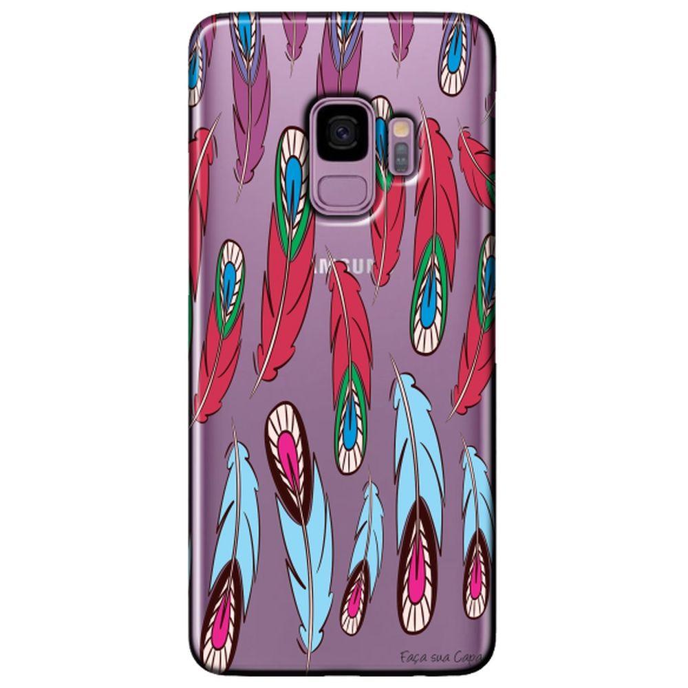 Capa Personalizada para Samsung Galaxy S9 G960 - Penas - TP269