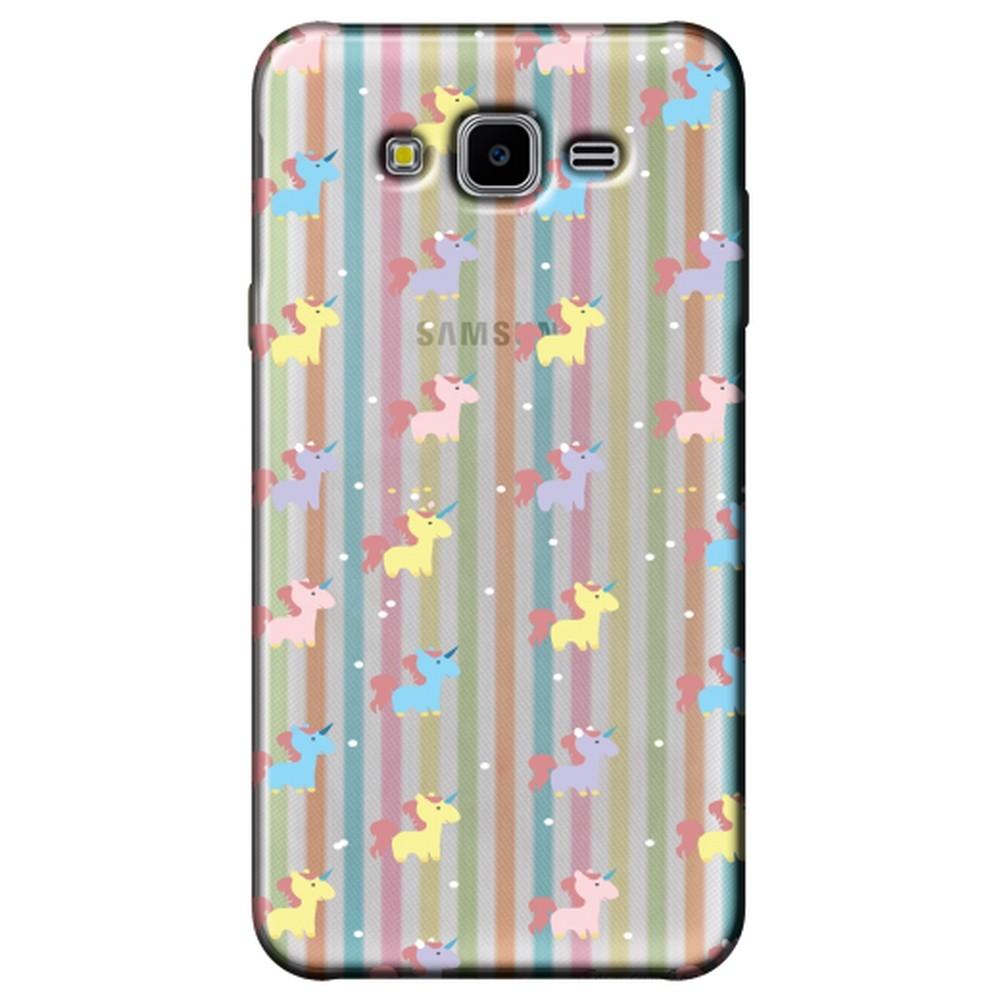 Capa Personalizada para Samsung Galaxy J7 Neo - Unicórnios - TP310