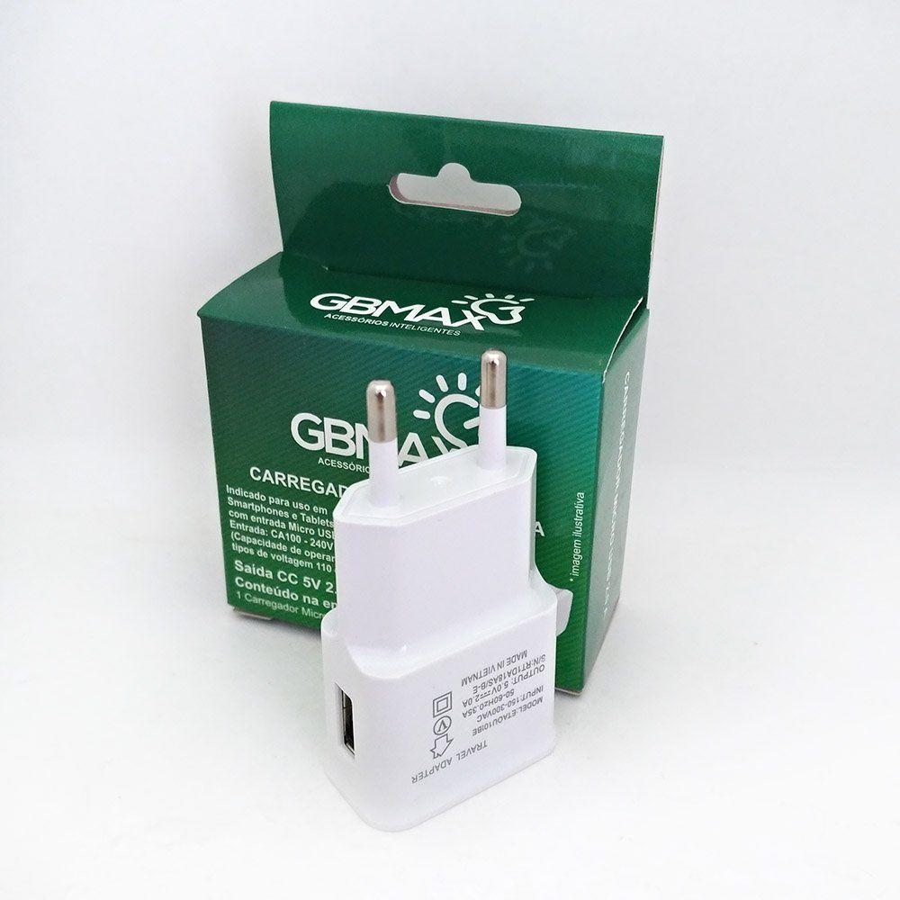 Carregador Adaptador de Parede Micro USB 2.0A - GBMax