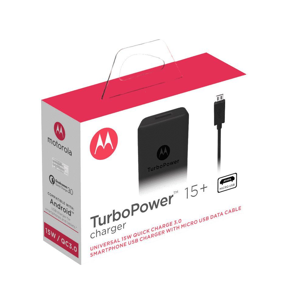 Carregador de Parede Motorola Turbo Power 15W e Cabo Micro USB