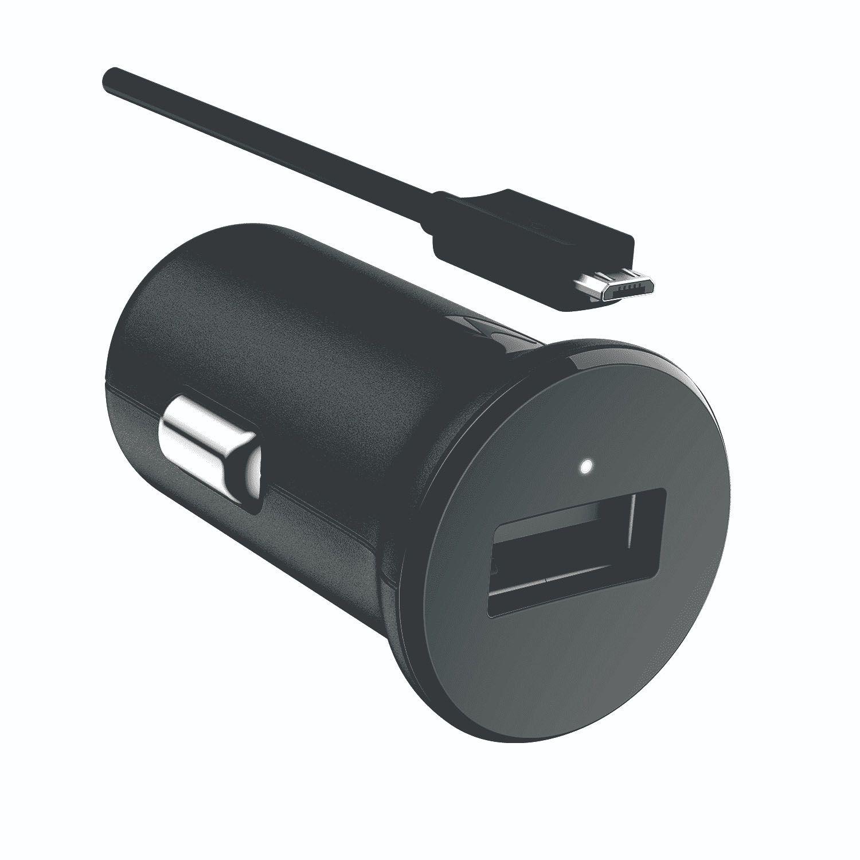 Carregador Veicular Motorola Turbo Power 15W e Cabo Micro USB