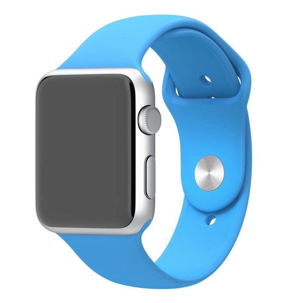 5e3bdadc042 Pulseira de Silicone Apple Watch 42MM - Azul Matecki Commerce ...