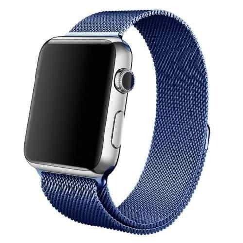9e7df6b999f Pulseira Milanese para Apple Watch 42MM - Azul - Matecki Commerce ...