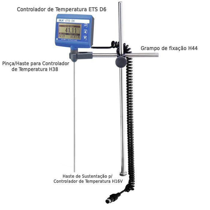 Controlador de Temperatura e Indicador de pH - ETS D6