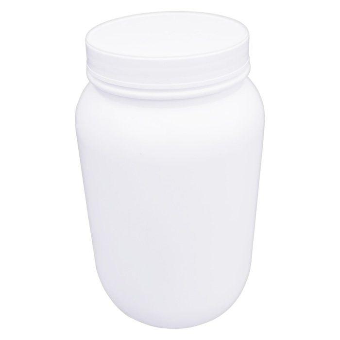 Frasco em Polietileno Branco - Boca Larga tampa Rosqueável 3800mL