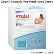 Compre 3 Pacotes de Wiper Wypall X60 Higiene Corporal Pacotes com 100 panos
