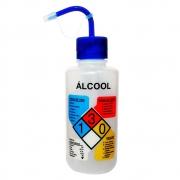 Pisseta em Polietileno 500mL para Álcool Com Classificação de Risco