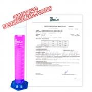 Proveta em Vidro com Base em Polipropileno com Certificado Calibração Rastreável Plenalab