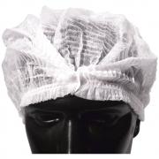 Touca (Turbante) Branca em TNT - Embalagem 100 unidades
