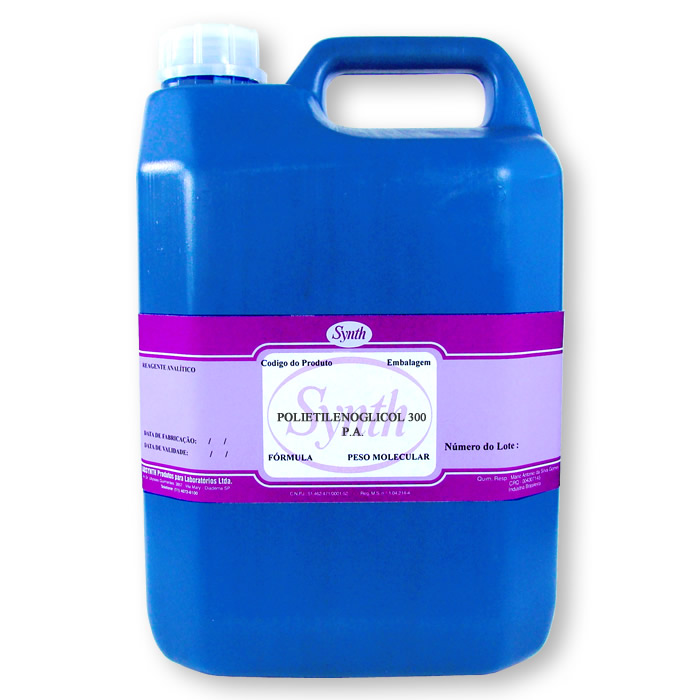 Polietilenoglicol 300 P.A. - Embalagem  5 Litros