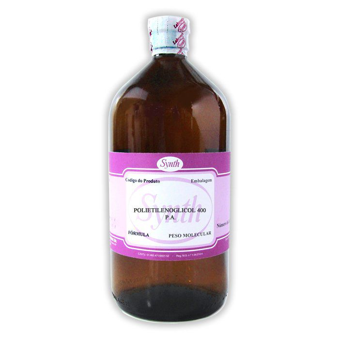 Polietilenoglicol 400 P.A. - Embalagem 1000mL
