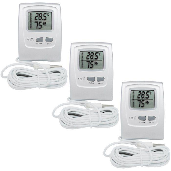 Compre 3 Termohigrômetros Digitais -50+70ºC