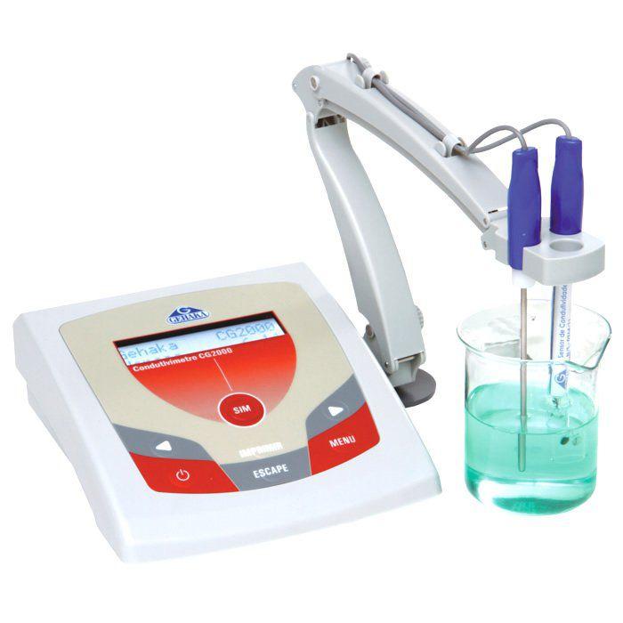 Condutivímetro de Bancada Microprocessado Bivolt Ref. CG 2000