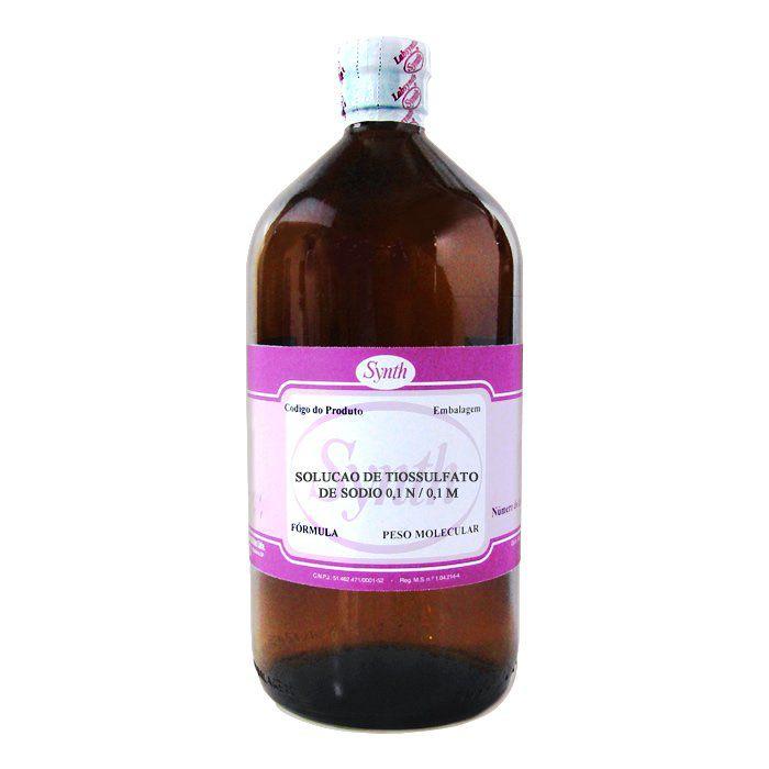Solução de Tiossulfato de Sódio 0,1 N / 0,1 M