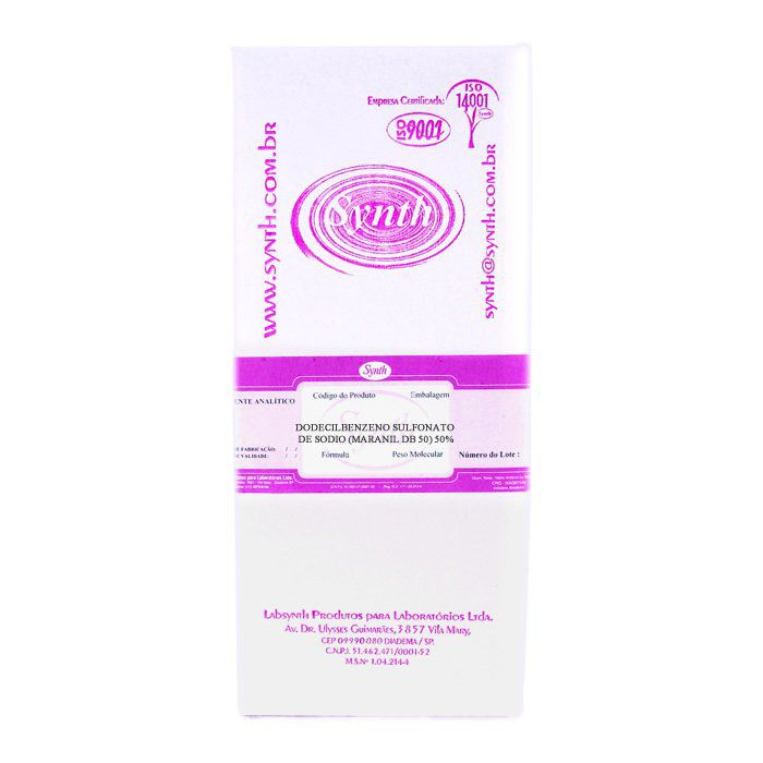 Dodecilbenzeno Sulfonato de Sódio (Maranil DB 50) 50% Embalagem 1000g