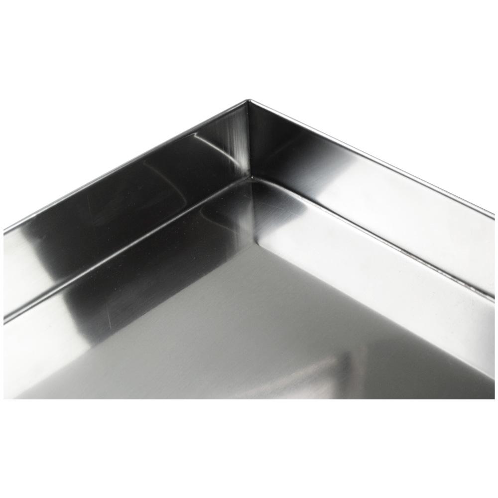 Bandeja em Aço Inox 40x35x5cm